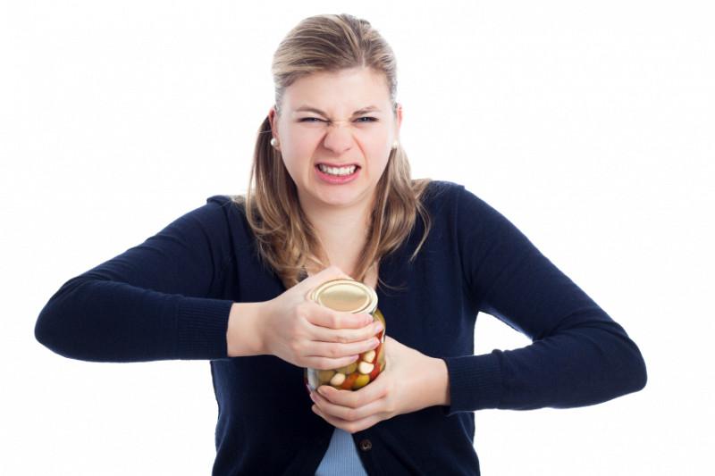stuck-on lid of jar